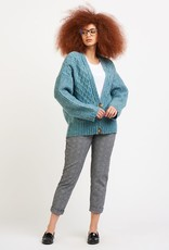Dex Teal Cable Knit Cardigan