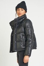 Dex Faux Leather Mini Puffer