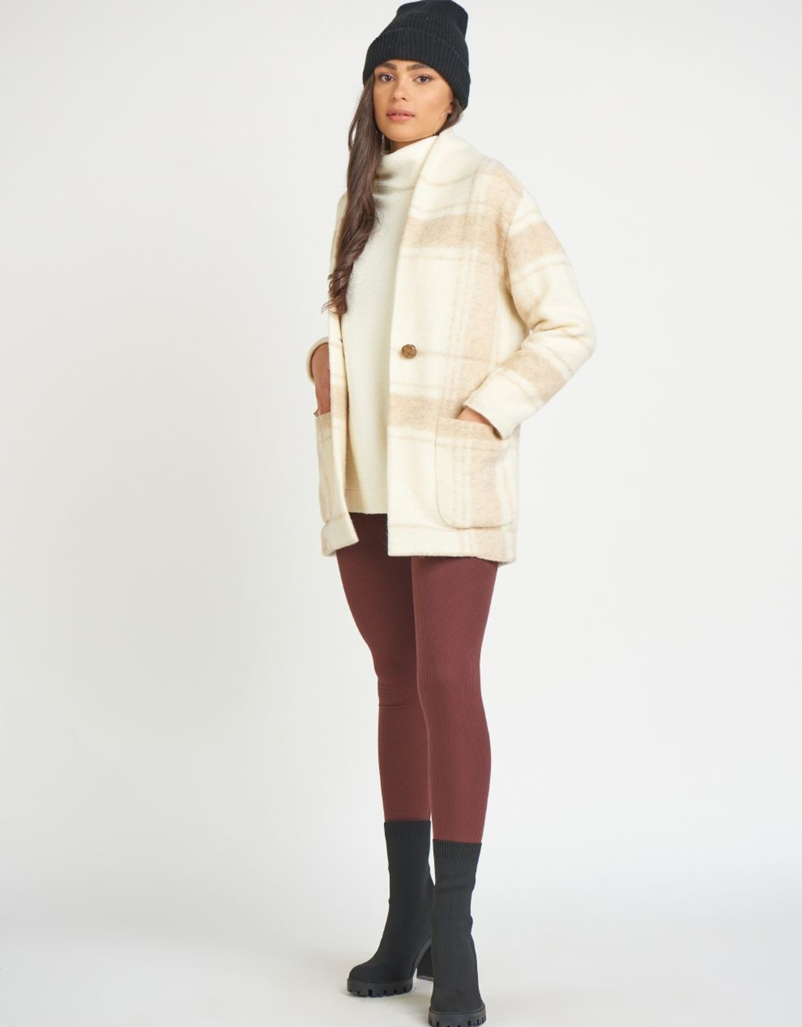 Dex Cocoon Jacket Birch Check