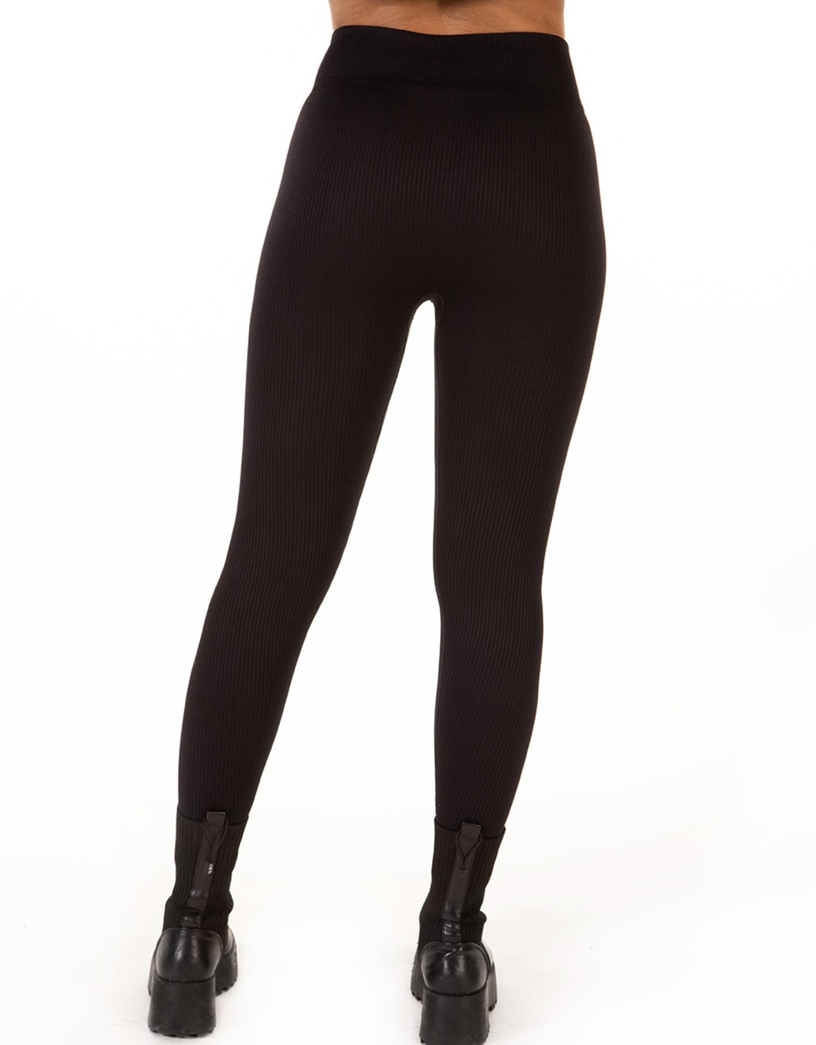 Dex Black Ribbed Legging
