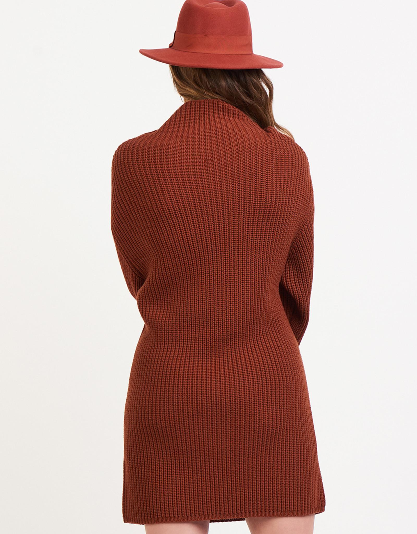 Black Tape Rust Sweater Dress