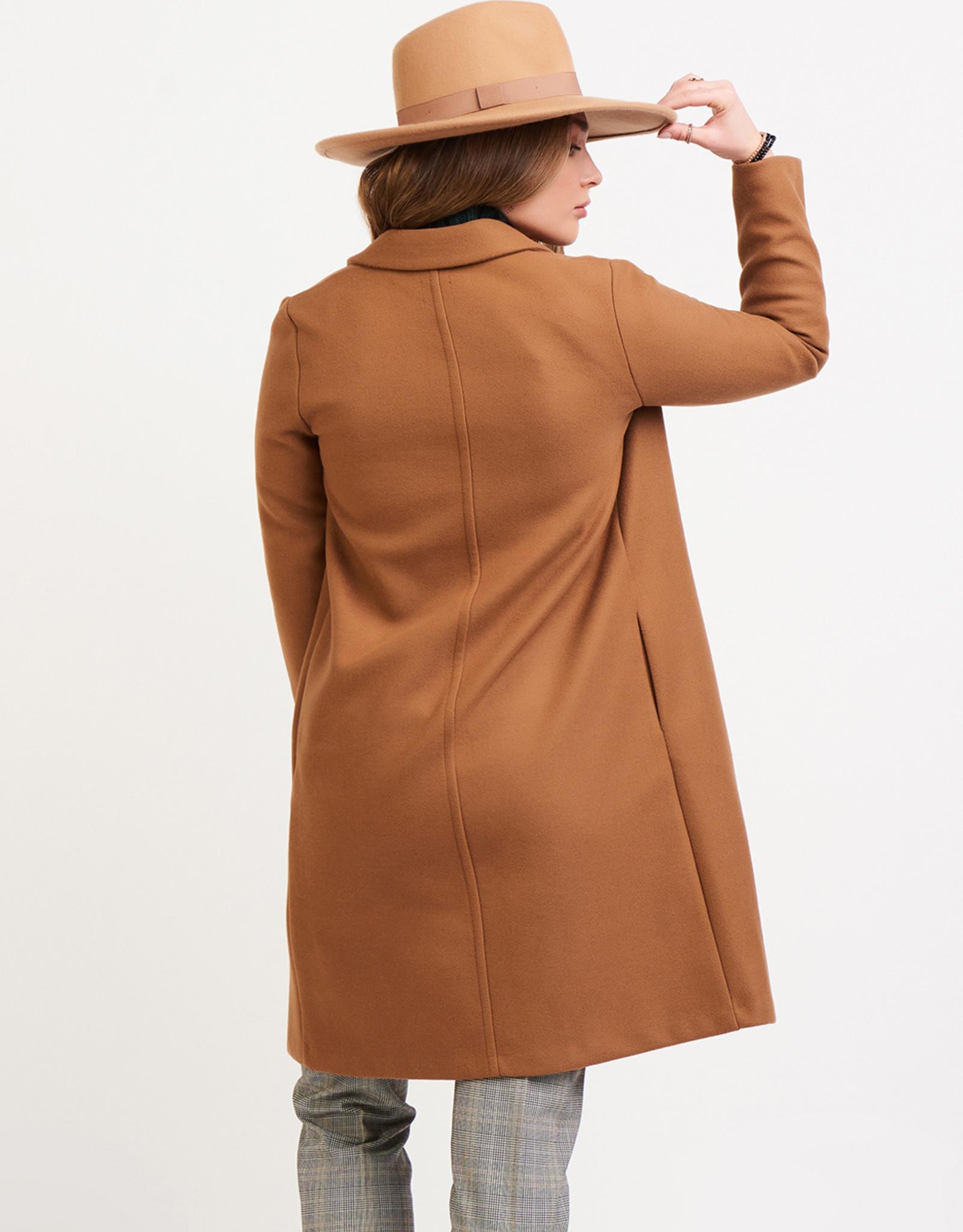 Black Tape Camel Open Coat