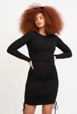 Dex Black Drawstring Dress
