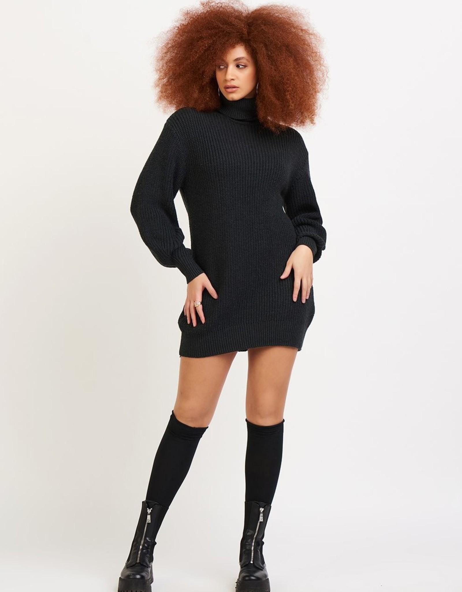 Dex Cocoon Dress Charcoal