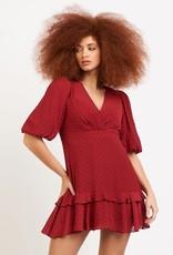 Dex Crimson Ruffle Dress