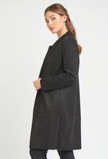 Black Tape Faux Suede Jacket