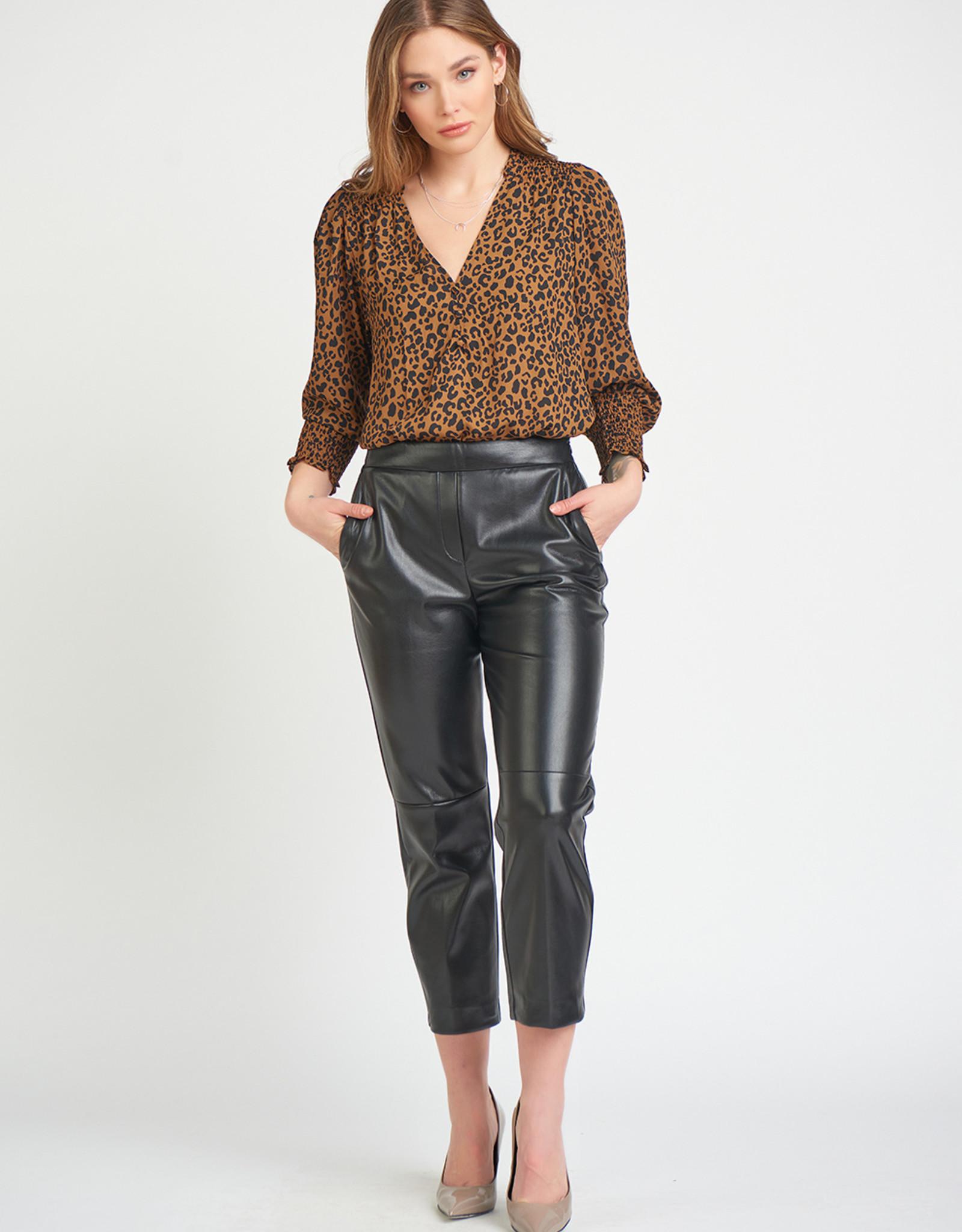 Black Tape Faux Leather Trouser