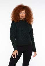 Black Tape Pine Cable Knit