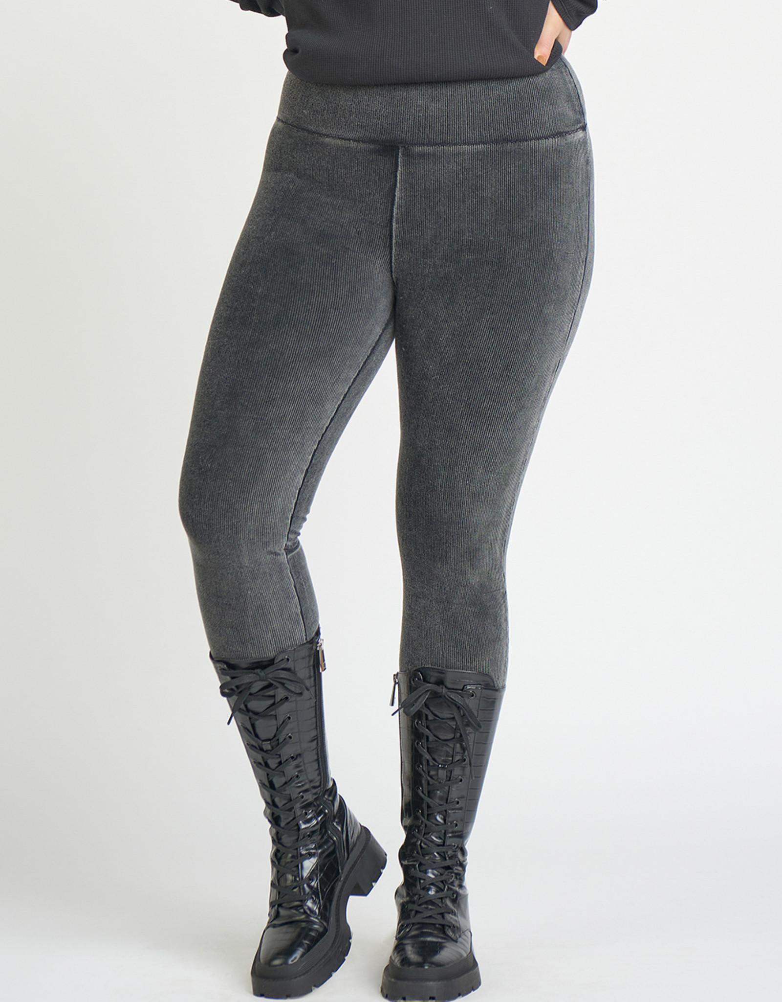 Dex Plus Black Corduroy Leggings