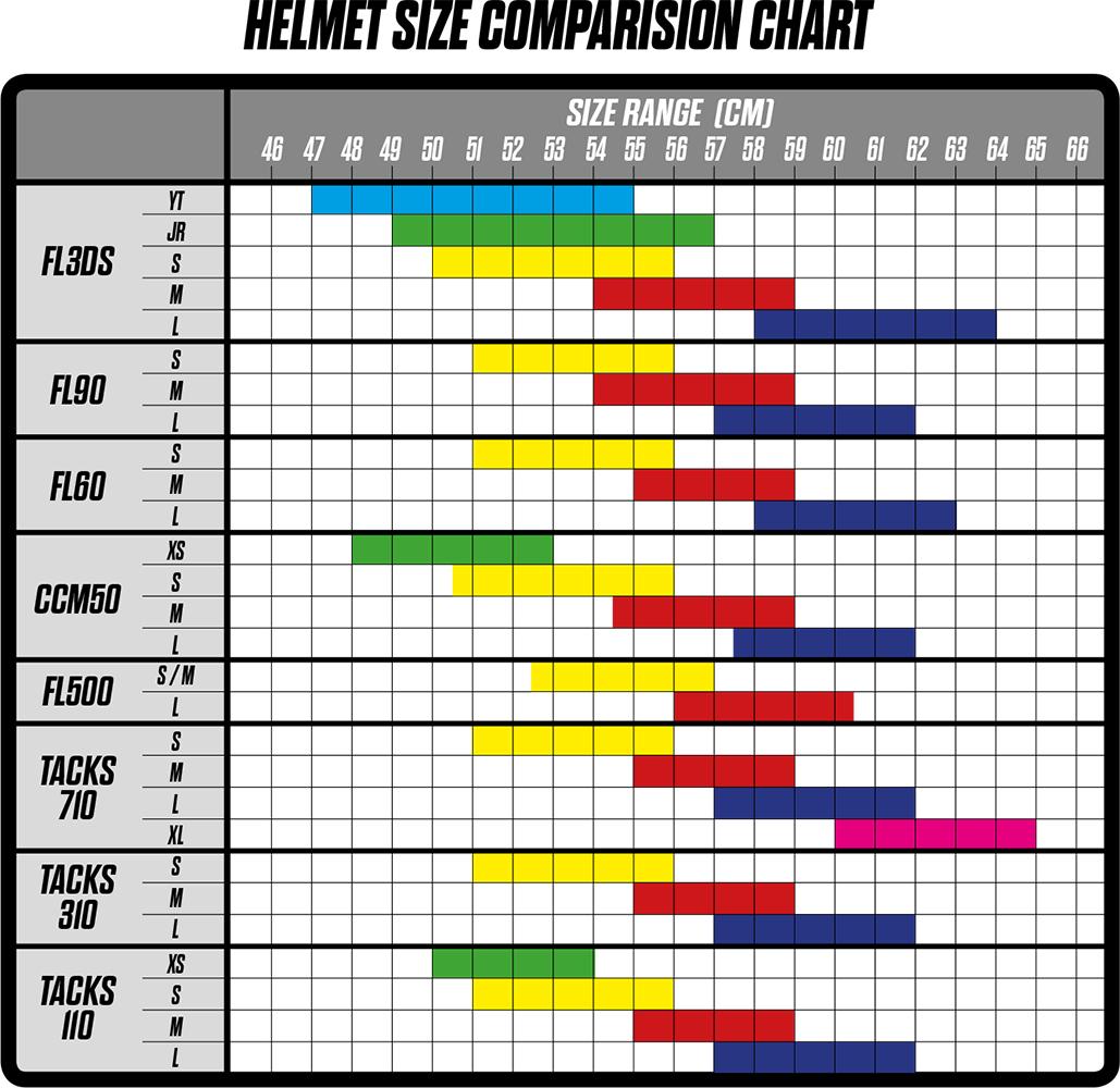ccm helmet size chart