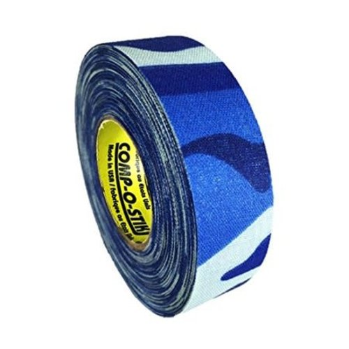 North American North American Hockey Tape - 1-Inch x 20 Yards - Blue Camo - Thin
