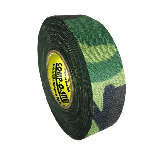 North American North American Hockey Tape - 1-Inch x 20 Yards - Green Camo - Thin