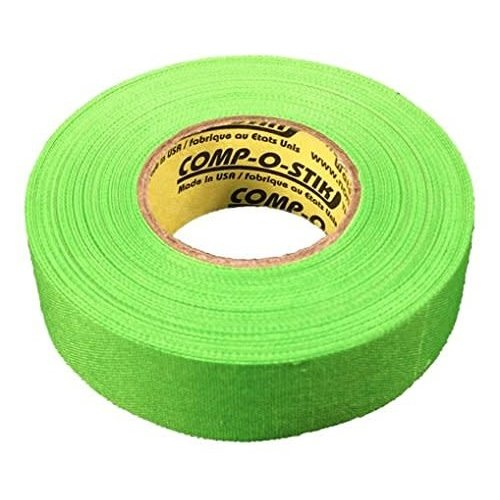 North American North American Hockey Tape - 1-Inch x 27 Yards - Neon Green - Thin