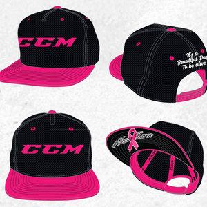 CCM CCM S18 Team Karen Team Flat Brim Snapback Cap - Black/Black