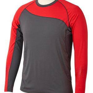Bauer Bauer Pro Long Sleeve Base Layer Top - Dark Grey/Red - Senior