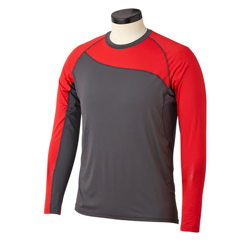 Bauer Bauer S19 Pro Long Sleeve Base Layer Top - Dark Grey/Red - Youth