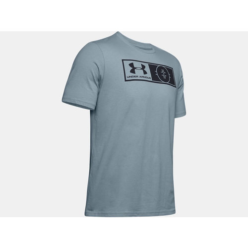 Under Armour S19 Hockey Authenticator Tee - Harbor Blue - Senior