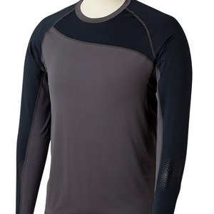 Bauer Bauer Pro Long Sleeve Base Layer Top - Dark Grey/Black - Youth