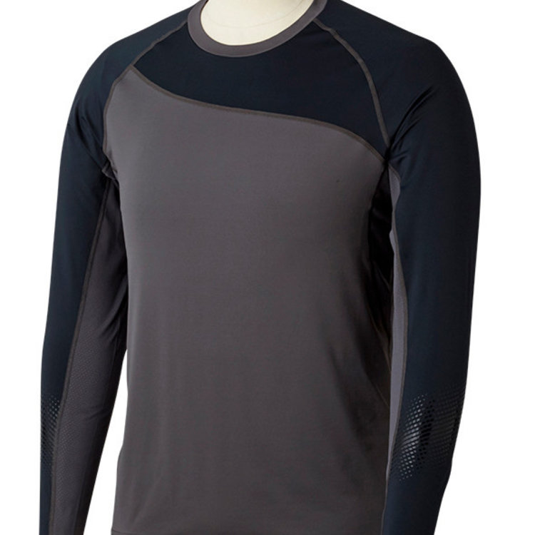 Bauer Bauer S19 Pro Long Sleeve Base Layer Top - Dark Grey/Black - Youth