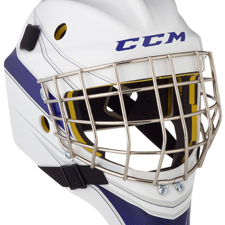 CCM CCM S20 AXIS A1.5 Goal Helmet - Custom Decal - Youth