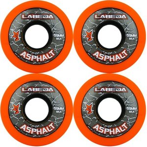 Labeda Labeda Asphalt Outdoor Wheel - 85a- 4 Pack - Orange