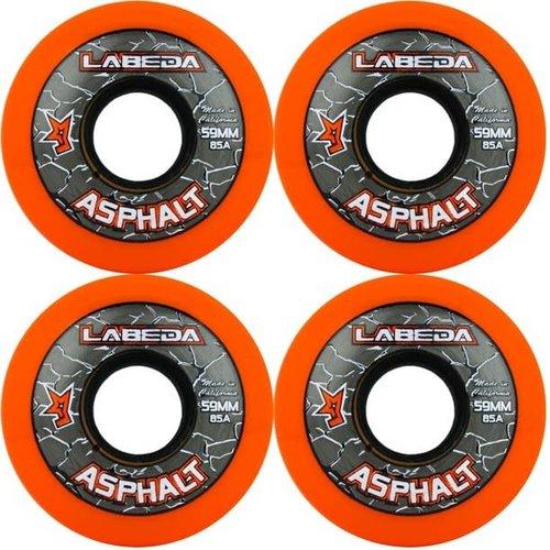 Labeda Labeda Asphalt Outdoor Wheel - 85a- 4 Pack - Orange