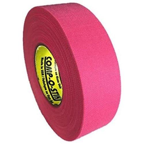 North American North American Hockey Tape - 1-Inch x 27 Yards - Neon Pink - Thin