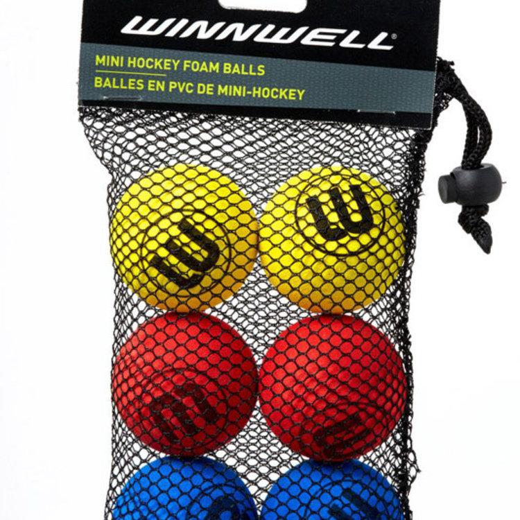 Winnwell S18 50MM 5G Shinny Knee Hockey Ball - 6-Pack - Multicolor