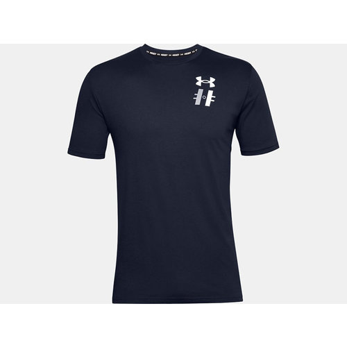 Under Armour S20 Hockey Graphic T1 Short Sleeve Tee - Adult - Navy