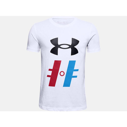 Under Armour S20 Hockey Graphic T1 Short Sleeve Tee - Youth - White