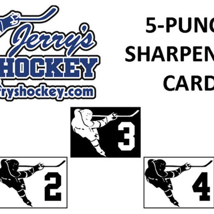 Jerry's Hockey Jerry's Hockey - Hockey Skate Sharpening Card - 5 Punch