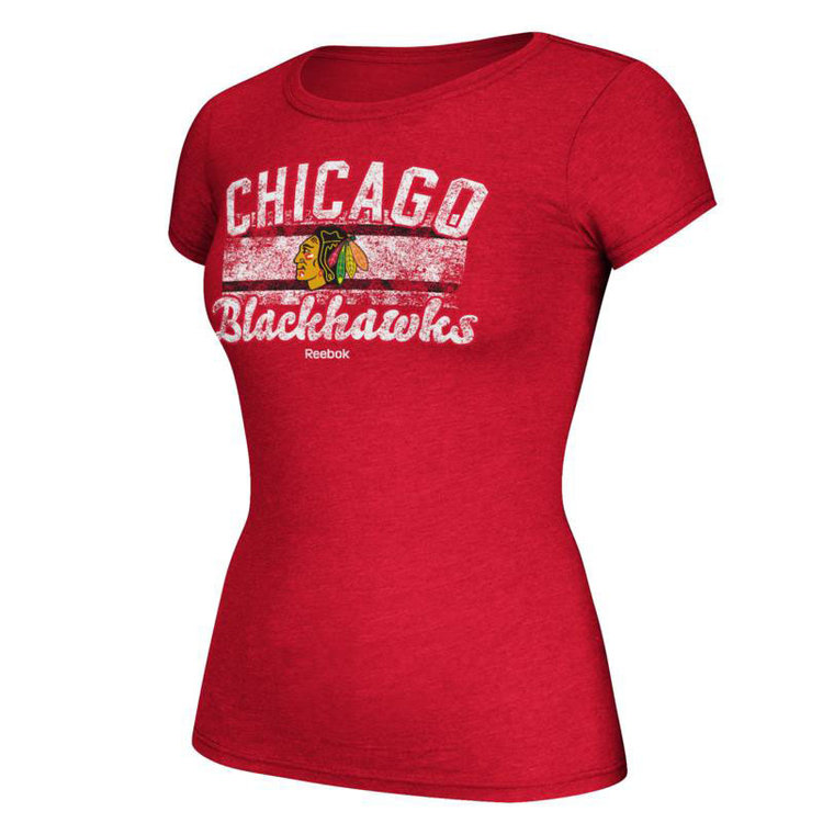CCM Chicago Blackhawks Cap Sleeve Tee - Womens