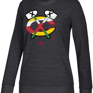 Adidas Adidas Chicago Blackhawks Comfy Crew Hoodie - Womens
