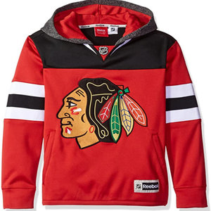 CCM Chicago Blackhawks Faceoff Jersey Hoodie - Junior