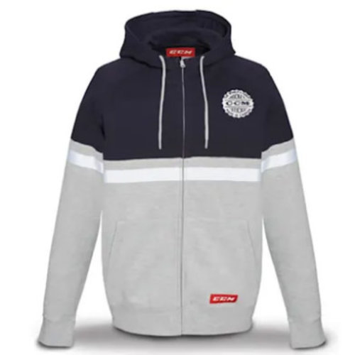 CCM CCM S20 Heritage Logo Full Zip Fleece Hoody - Adult