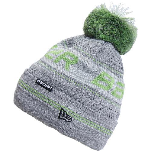 Bauer Bauer New Era Pom Knit Beanie - Youth - Grey/Green