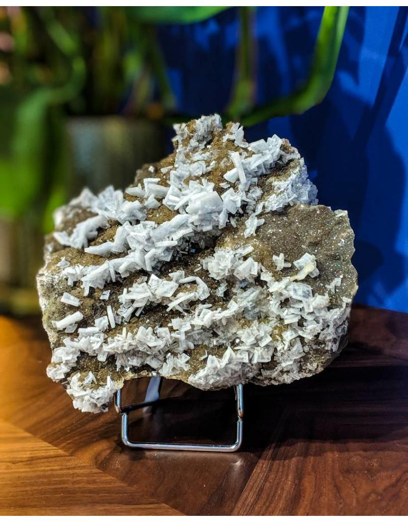 Barite Fluorite with Stand 200x200x85mm 3.8kg