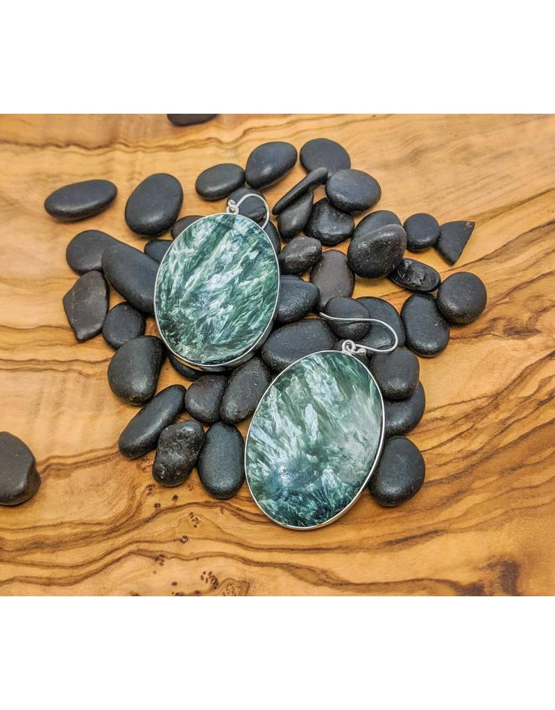 Sanchi and Filia P Designs Seraphinite Earrings