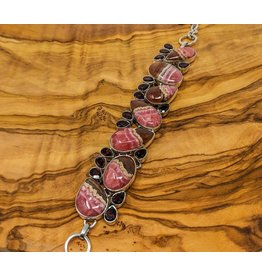 Rhodochrosite Garnet Bracelet