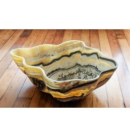 Zebra Calcite Onyx Bowl 60x50x23cm 12kg Mexico