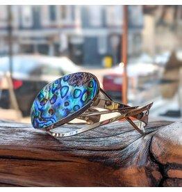 Special Concept Paua SS Cuff Bracelet