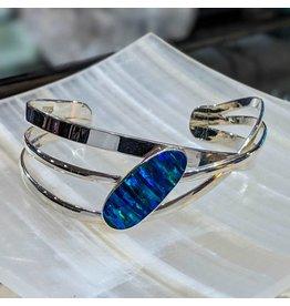 Special Concept Opal Doublet SS Cuff Bracelet