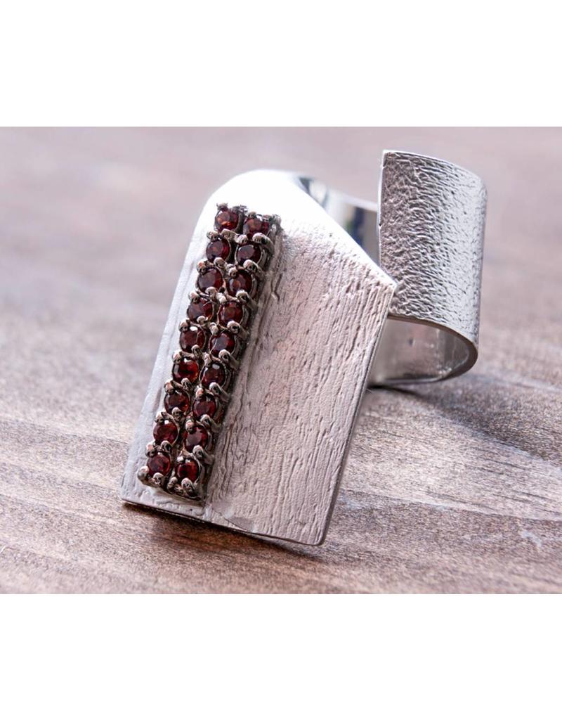 German Kabirski Garnet Ring 7