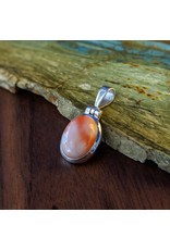 Sterling Creations Coral Pendant
