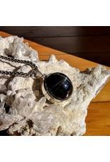 Sterling Creations Black Star Diopside Pendant