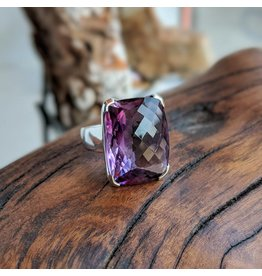 Sterling Creations Amethyst Ring 10