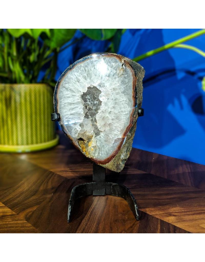 Quartz Geode Slice on Stand 2750g
