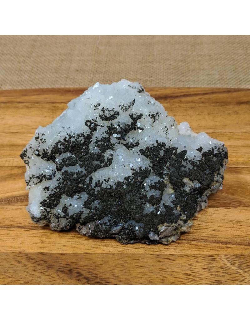 Galena Speckled Druzy Quartz on Fluorite 140x110x55mm 921g