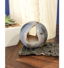 Agate Geode Sphere 7cm Uruguay