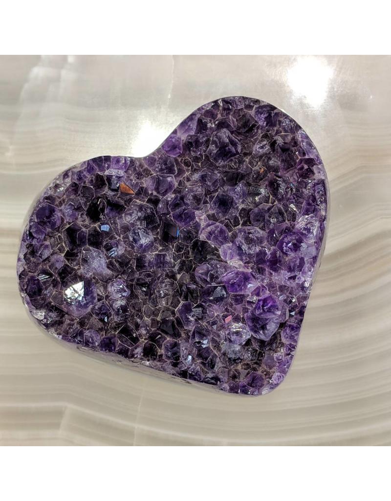 Amethyst Vug Heart 9.5x8.5x5cm Brazil